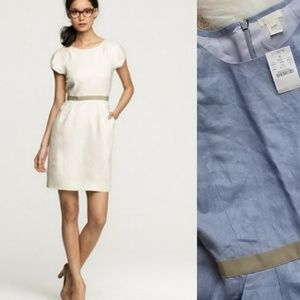 NWT J. Crew Blue Linen Dress